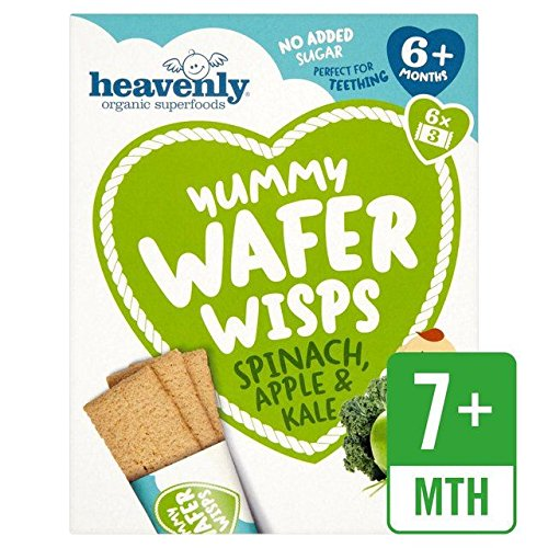 Heavenly Organic Yummy Wafer Wisps Spinach, Apple & Kale – 84g (0.19lbs)