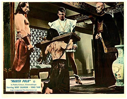 (Marco Polo Original 1962 Lobby Card Rory Calhoun Torture Scene)