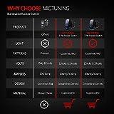 MicTuning MIC-LSK1 Zombie Lights Symbol Rocker Switch On-Off LED Light, 20A, 12V, Blue
