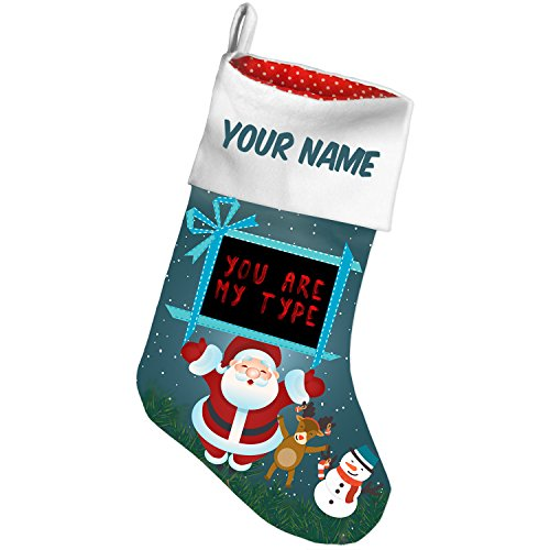 NEONBLOND Christmas Stocking You are My Type Blood Halloween Custom -
