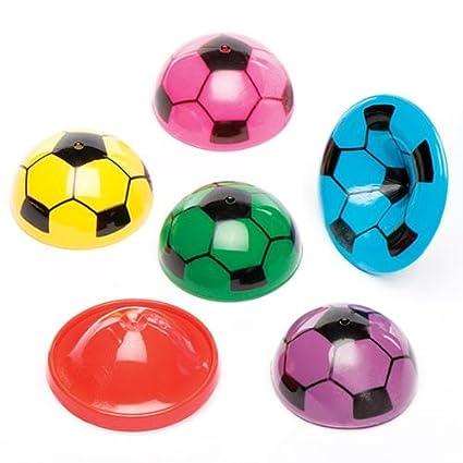 Baker Ross Saltadores con forma de balón de fútbol (Paquete de 12) Para bolsas de cotillón infantiles