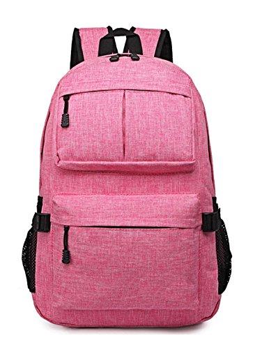 Keshi Leinwand Cool Damen accessories hohe Qualität Einfache Tasche Schultertasche Freizeitrucksack Tasche Rucksäcke Rosa mx47qXw0Cq