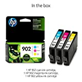 HP 902 Cyan, Magenta & Yellow Original Ink Cartridges, 3 Cartridges (T6L86AN, T6L90AN, T6L94AN) for HP OfficeJet 6958 6962 HP OfficeJet Pro 6968 6954 6975 6978
