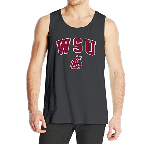 Men's Washington State University WSU Cougars Logo Tank Top Black - Washington State University Clothing