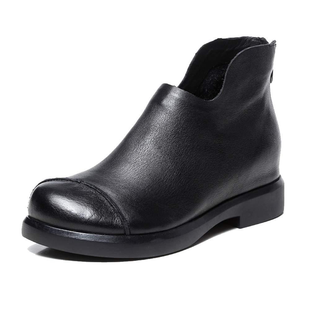 ZQZQ Leder Stiefelies Damenschuhe Tragbar Rutschfest Mode