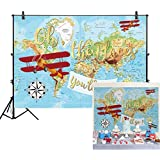 Allenjoy 7x5ft Vintage Airplane Backdrop for Cake Smash Photography Oh The Places You'll Go Hot Air Balloon Kids Boy Pilot 1st First Birthday Baby Shower Party Table Decor Background Photo Studio Prop