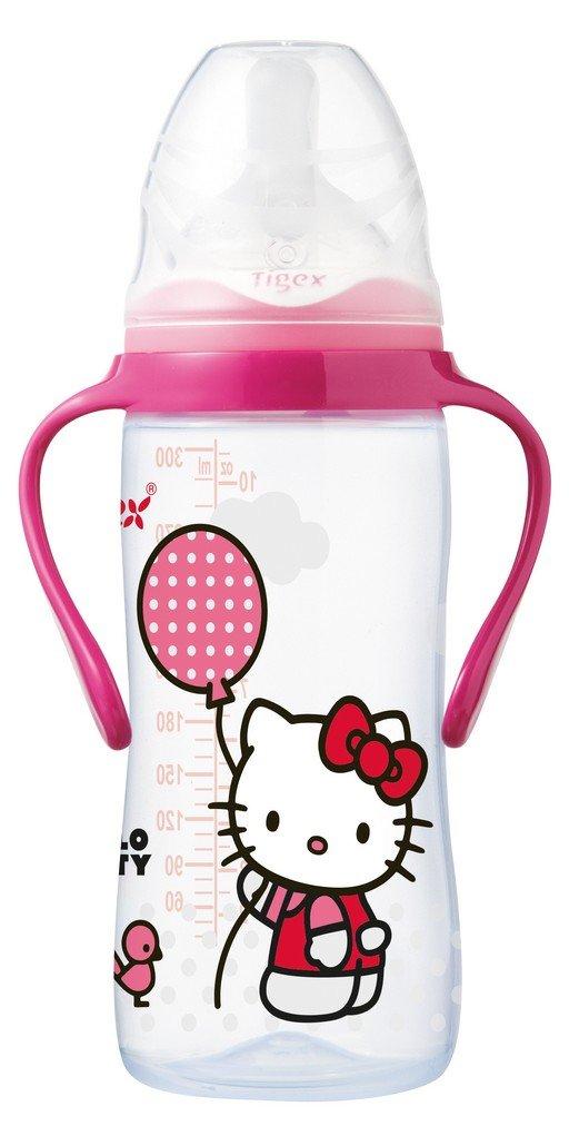Tigex 80601910 - Biberó n con asas 300 ml tetina air control de silicona Hello Kitty (6-12 meses) 80602736