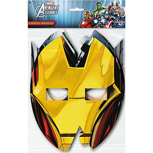 Avengers Party Masks, 8ct -