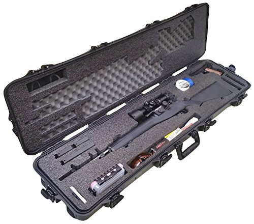Case Club Pre-Made Springfield M1A Waterproof Rifle Case with Accessory Box and Silica Gel to Help Prevent Gun Rust