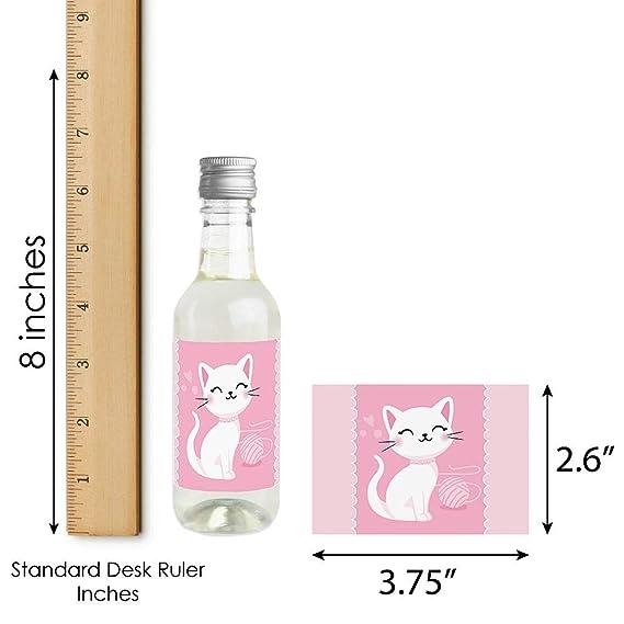 Purr-fect Kitty Cat - Pegatinas para botella de vino y ...