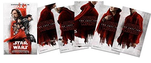 """Set of 6 - Star Wars The Last Jedi Movie Posters 11"""" x 17"""" -"""