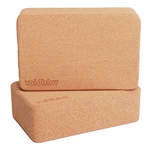 voidbiov Cork Yoga Block Set 2 Piece or 1 Pieces, 9