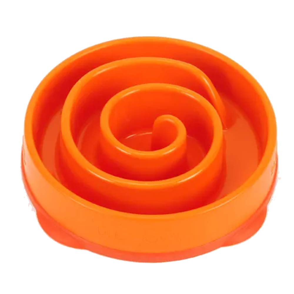 orange D20CM orange D20CM Pet Bowl Large Dog Anti-Slack Slow Food Bowl High Strength Plastic Pet Products (color   orange, Size   D20CM)