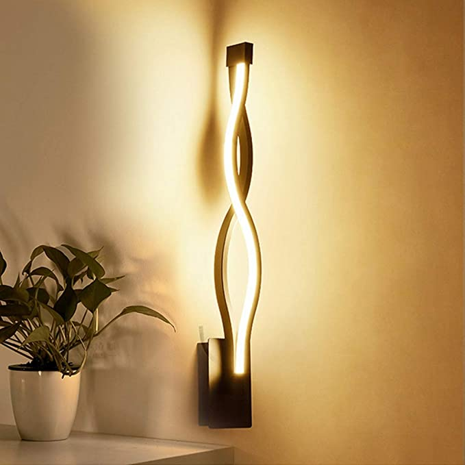 Amazon.com: WLQ Lámparas de pared LED, Estilo nórdico, dormitorio Luces de pared LED sala de iluminación de pared lámparas de Interior Blanco cálido luz y ...
