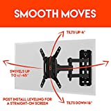 "ECHOGEAR Full Motion Articulating TV Wall Mount Bracket for most 15-39 inch TVs & Computer Monitors Featuring 10.5"" of Extension, 90º of Swivel, & 16º of Tilt - EGSF1-BK"