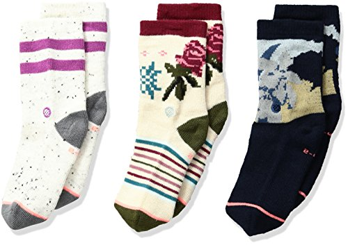 Stance Toddler Girls' Cuban Flower Snowflake Stripes Sock Box Set, Multi, 2-4 ()