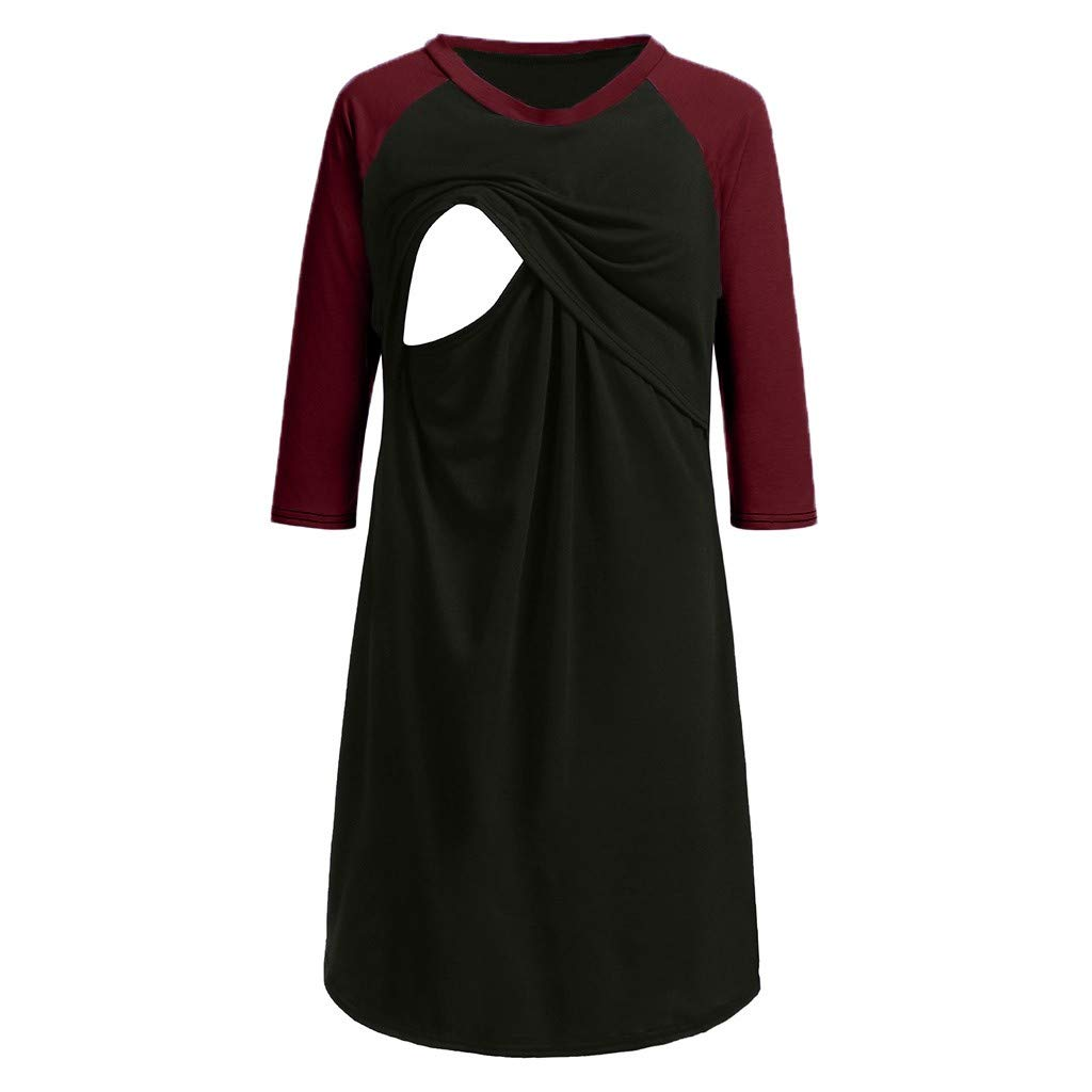 PattyBoutik Mama Boatneck Long Sleeve Maternity Tulip Dress