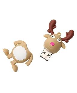 Weihnachten Deer U Disk USB 2.0 Flash Drive Pendrive Memory Stick U Scheibe - 16G