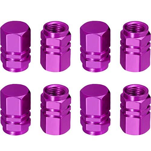 purple valve stem caps - 4