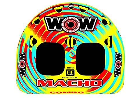 WOW World of Watersports, Macho 16-1010 1 to 2 Person Towable Tube, Multiple Riding Positions - Sportsstuff Mable Series