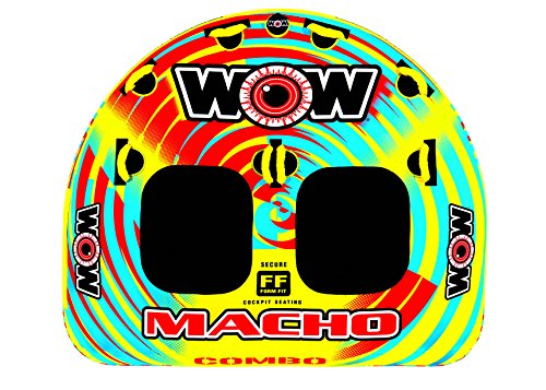 Combo Tube - WOW World of Watersports, Macho 16-1010 1 to 2 Person Towable Tube, Multiple Riding Positions