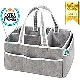 Enochee Baby Diaper Caddy Organizer - Large Portable Nursery Storage Bin Newborn