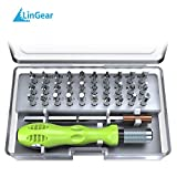 LinGear Precision Screwdriver Set,32 in 1 Mini Driver Kit Electronics Repair Tool