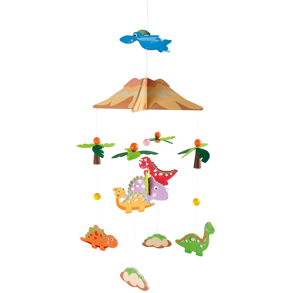 Small Foot Dinosaur Wooden Mobile, Multi-Colour small foot design 10117