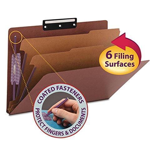 Flat Pressboard Metal Tab File (Smead Pressboard Classification Folder with SafeSHIELD Fasteners and 1/3-Cut Flat Metal Tab, 2 Dividers, 2