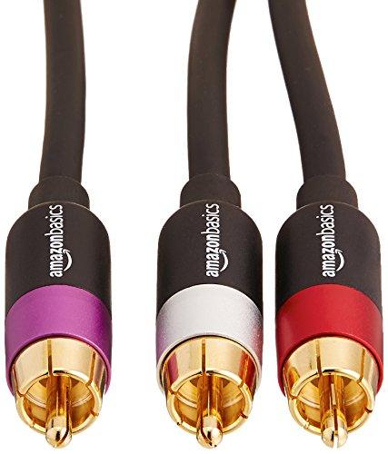 AmazonBasics - Cable de audio RCA (1 macho a 2 machos), 2,4 metros: Amazon.es: Electrónica