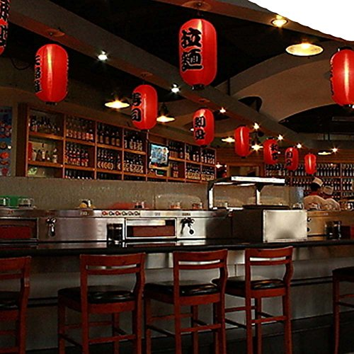 FANCY PUMPKIN Japanese Style Red Hanging Lanterns Sushi Bar Restaurant Decor Interior Design Decorative Supplies, L-09 by FANCY PUMPKIN (Image #3)