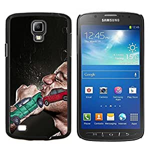 EJOOY---Cubierta de la caja de protección para la piel dura ** Samsung Galaxy S4 Active i9295 ** --Boxeo lucha del puño Car Crash Red Green Man