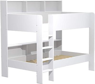 Lit Superpose 90x190 Lucky Blanc Amazon Fr Cuisine Maison