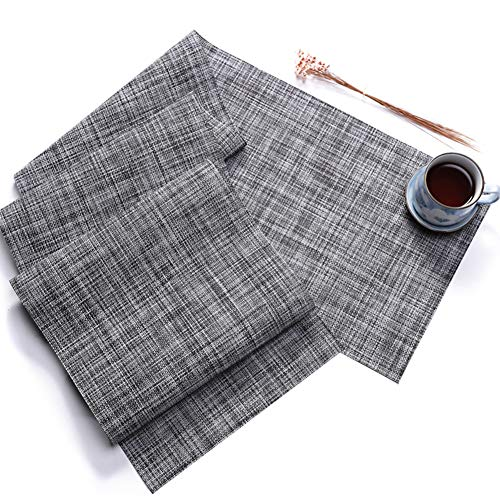 Qi Xiang Ju New Japanese-Style Placemats for Dinner Table,Woven Heat-Resistant Non-Slip Table Mat for Hotel,Creative Home Tablecloth (3 Sizes Optional)