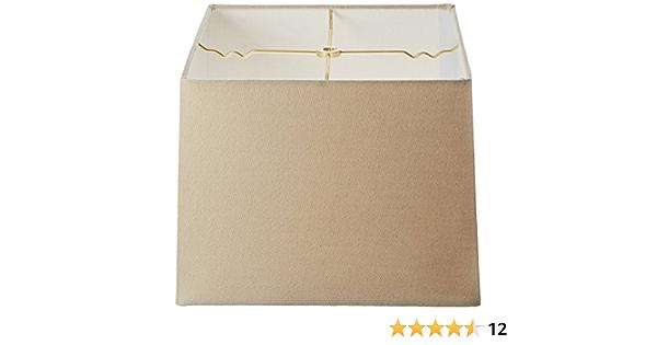 Royal Designs - Pantalla cuadrada para lámpara (15 x 15 x 16 x 16 x 10 cm), diseño de cáscara de huevo, Lino Beige, (11x11) x (12x12) x 9: Amazon.es: Iluminación