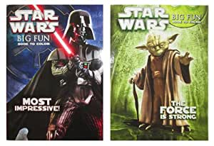 "Star Wars (2 Pack) 96 Page Coloring & Activity Book - ""The Force Is Strong"" & ""Most Impressive"""