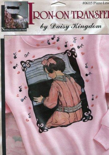Daisy Kingdom Iron-On Transfer ~ Piano Lessons