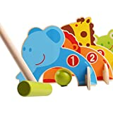 Wooden Cartoon Animals Croquet Sports Set Educational Toys, Gate Ball Gift, Outdoor and Indoor Family Games for Kids
