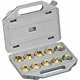 (US) Brass Router Template Bushing Guide Kit Set For Porter Cable Base Inlay Hinge