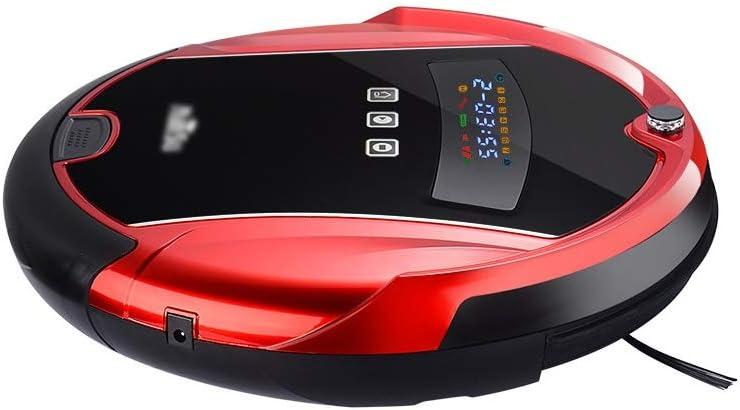 Aspirateur robot intelligent, Invites voix, intime 24 heures Rendez-vous nettoyage, for le pollen Nettoyage, Poils d\'un animal, tapis, planchers durs (Color : Red) Red