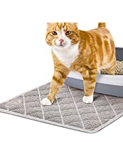 Pet Union Jumbo Cat Litter Mat, 89 x 58 cm, Fashionable Design, Phthalate Free, Captures and Traps Litter, Slip-Resistant, Soft on Paws, Premium Comfort for Your Furry Friend! (Light Grey)