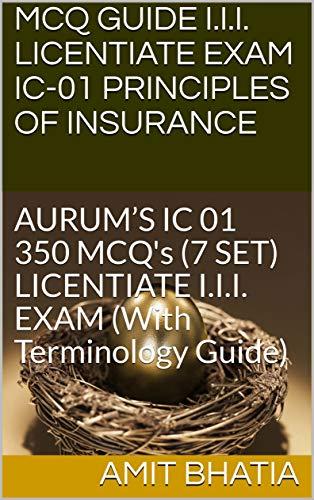 Amazon com: MCQ GUIDE I I I  LICENTIATE EXAM IC-01