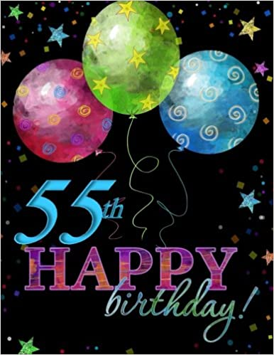 55th Happy Birthday Guest Book55th Party Supplies In All D55th Decorations Al55th Card Off55th