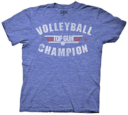 Ripple Junction Men's Top Gun Volleyball Champion T-Shirt - S to 3XL