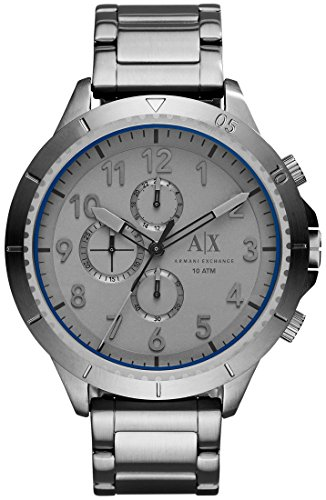 Armani Exchange Mens Gunmetal Stainless Steel Chro