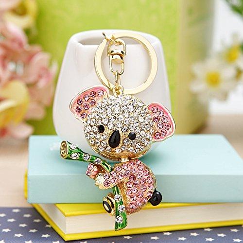 Small Cute Koala Sloth Gift Key Ring Full Diamond Inlaid