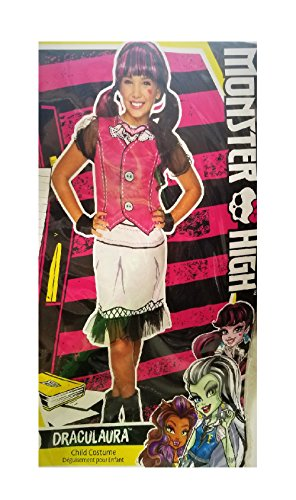 Skelita Calaveras Monster High Doll Costume (Monster High - Draculaura Child's Costume - Medium (size 8-10))