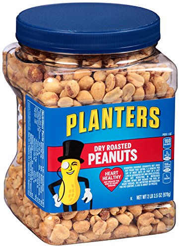Dry Roasted Peanuts - Planters Dry Roasted Peanuts, 34.5 Ounce, 3 Count