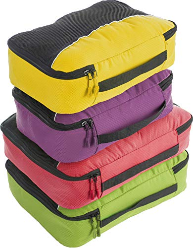 bago 4 Set Packing Cubes for Travel - Luggage & Suitcase Organizer - Cube Set