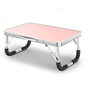GaoXu ZheDieZhuo HAKN Mesa Plegable Mesa para Ordenador portátil Cama Mesa para Dormir Dormitorio fácil de Aprender Mesa 61 * 41 * 27cm (Color : B): ...